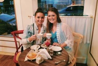 Kat and Tish tea time